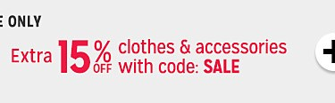 online only | extra 15% off with code SALE