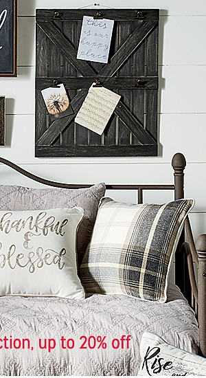 Farmhouse decor collection up to 20% off