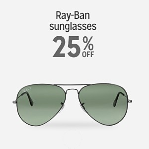 Ray-Ban sunglasses 25% off
