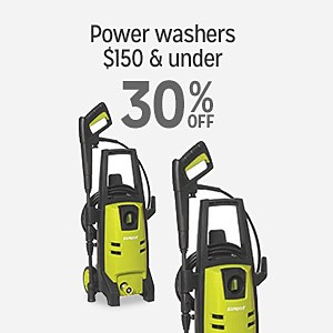 Power washers $150 and under 30% OFF
