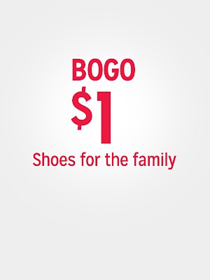 BOGO $1 shoes for the family