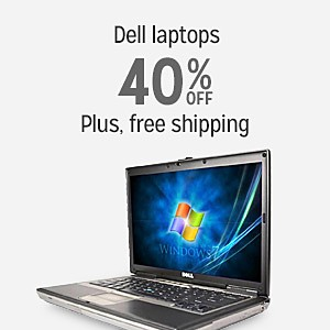 40% off and more on Dell laptops plus free shipping