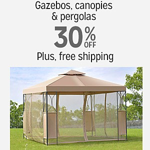 30% off and more plus FREE SHIPPING on Gazebos, Canopies & Pergolas