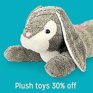 Plush toys 30% off
