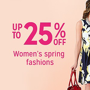 up to 25% off women's clothes