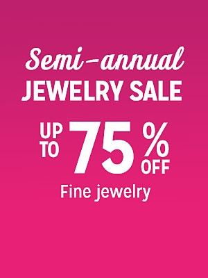 Semi-annual jewlery sale up to 75% off
