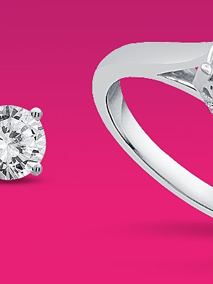 Get $150 in CASHBACK in points | 10K white godl 1ct. diamond ring $799.99 reg. $3999.99