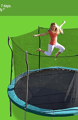 Propel 12' trampoline with enclosure $149.99