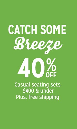40% off casual seating sets