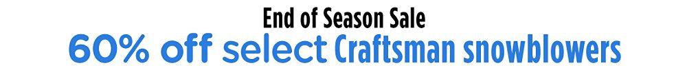 50% off select Craftsman snowblowers