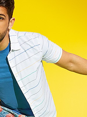 $4.98 Men's V-Neck and Crew Neck Shirts