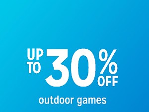 outdoor games up to 30% off