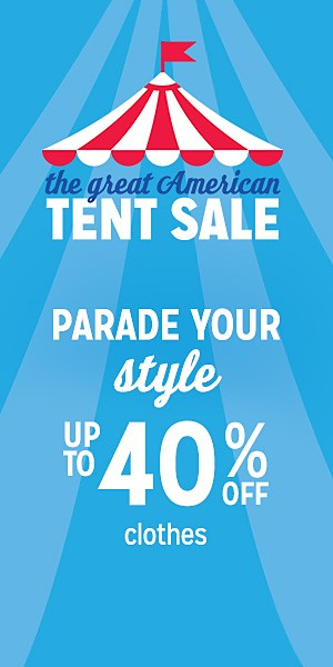 up to 40% off clothes