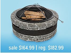 """Sun Joe Fire Joe 30"""" Steel Fire Pit reg $109.99"""