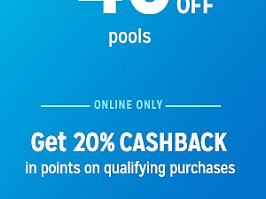 up to 40% off pools