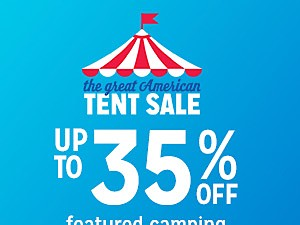Camping & Hiking up to 35% off