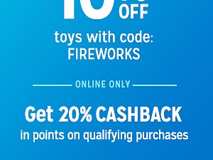 online only extra 10% off with code FIREWORKS