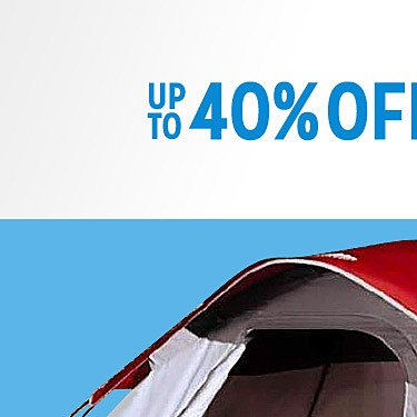 up to 40% off camping