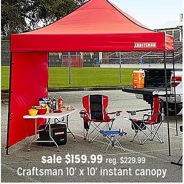 Craftsman Canopy sale $159.99 | reg $229.99