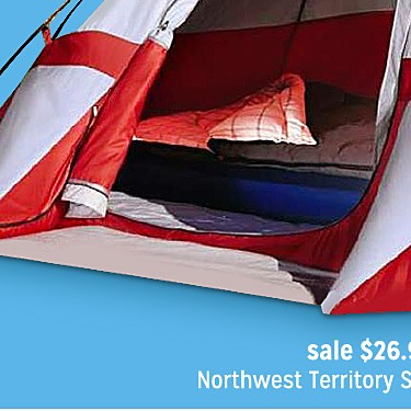 Sierra Dome 9'x7' Dome Tent $26.99 | reg $49.99