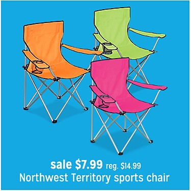 Lightweight Sports Chair -Brights Sale $7.99 | reg $14.99