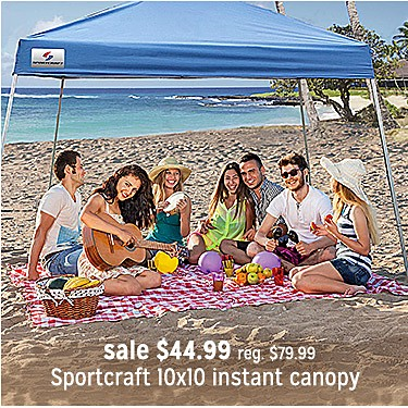 Sportcraft 10x10 Instant canopy Blue sale $44.99 | reg $72.99