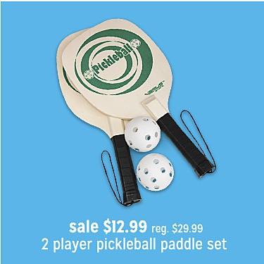PICKLEBALL 2 PLAYER SET sale $12.99 | reg $29.99