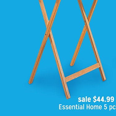 Essential Home 5 Pc Table Tray Set sale $44.99 | reg $59.99