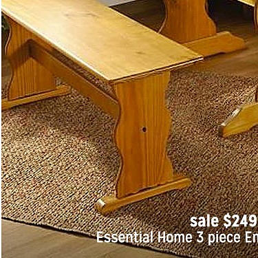 Essential Home 3 Piece Emily Breakfast Nook in Pine sale $249.99 | reg $299.99