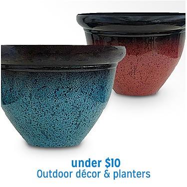 Outdoor Décor & Planters Under $10