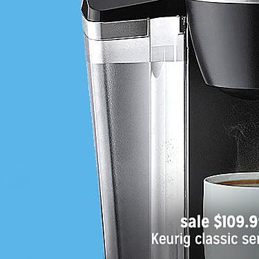 Keurig 119253 Classic Series K50 Brewer sale $109.99 | reg $129.99
