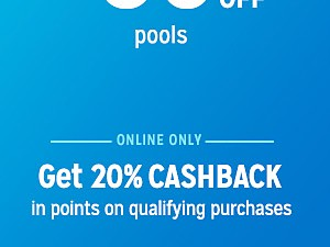 up to 50% off pools