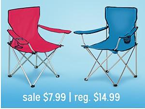 camp chairs sale $7.99 | reg $11.99