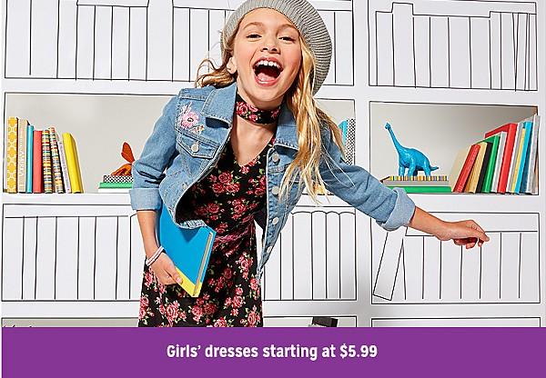 girls' dresses starting at $5.99