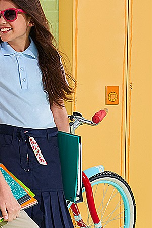 Kids' polos & school uniforms up to 40% off