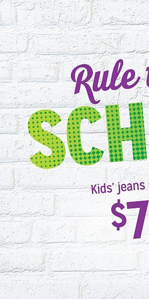 Kids' jeans starting at $7.99