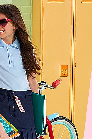 Kids' school uniforms 40% off | online only Extra 15% off with code: LABORDAY
