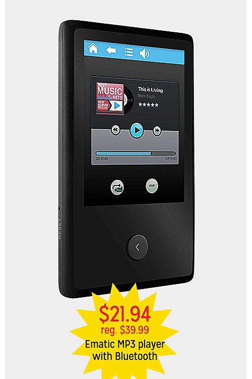 $21.94 reg. $39.99 Ematic MP3 player