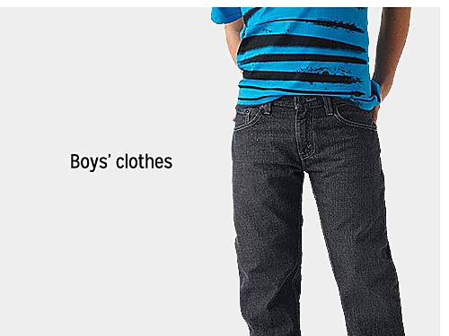 up to 60% off boys' clothes