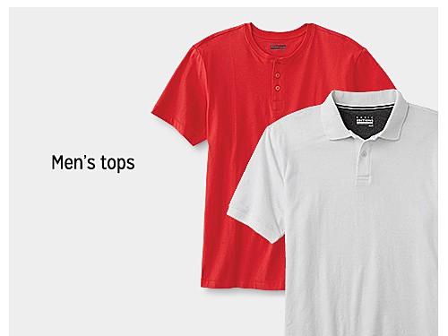 up to 60% off men's tops