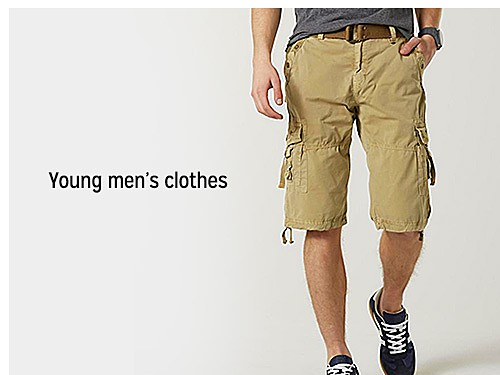 up to 60% off young men's clothes