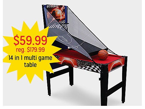 "$59.99 reg $179.99 48"" 14 in 1 Multi Game Table"