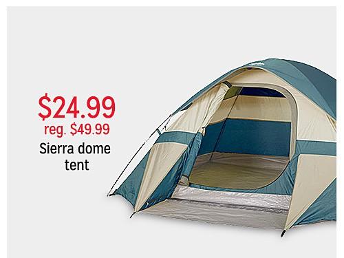 $24.99 reg $49.99 9' x 7' Sierra Dome Tent - Blue