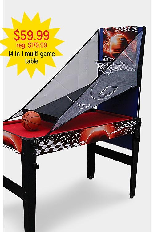 "$59.99 reg $179.99 48"" 14 in 1 Multi Game Table"