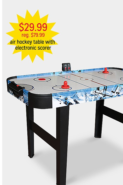 """$30.99 reg $79.99 48"""" Air Hockey Table with Electronic Scorer"""