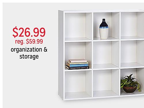 $26.99 reg $59.99 Essential Home 9 Cube Storage Unit