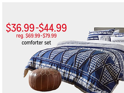 $36.99 - $44.99 reg $69.99 - $79.99 Attention 5pc comforter