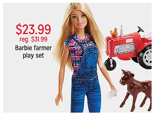$23.99 reg. $31.99 Barbie farmer playset