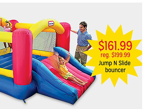 $161.99 reg $199.99 Jump N Slide bouncer