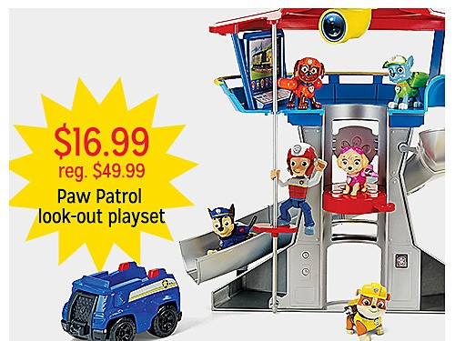$16.99 reg. $49.99 Paw Patrol Look-Out Playset